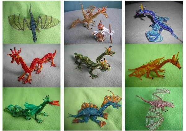 perle de rocaille modele dragon